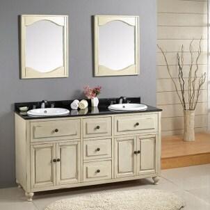 Daytona 78 inch Cherry Double Bathroom Vanity Set by