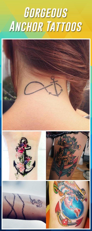 Anchor Cross Tattoos : anchor, cross, tattoos, Anchor, Tattoos, Ideas, Designs
