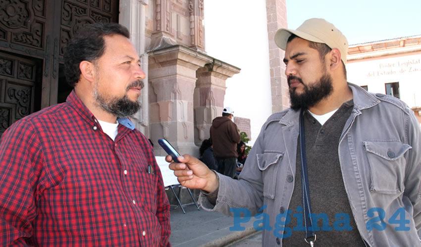 Alejandro Rivera Nieto: Pareciera que existen intereses de por medio por parte de los legisladores locales, y por este motivo no se ha priorizado el tema del punto de acuerdo (Foto: Rocío Castro Alvarado)
