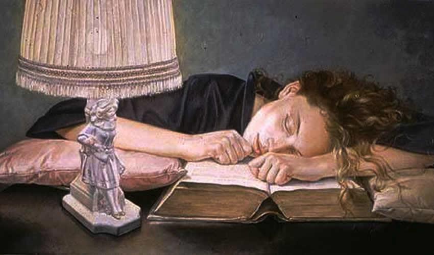 Mujer lectora, de Francine Van Hove