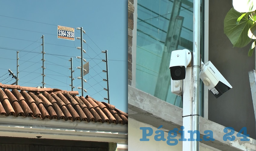 En otras viviendas pusieron malla electrificada y cámaras de videovigilancia para registrar a sujetos sospechosos que intenten robar a los vecinos