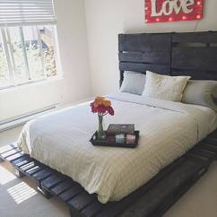 Kitchen Corner Cabinet Storage Cost For Remodeling Wooden Pallet Bed Out Of Only Pallets - Pro