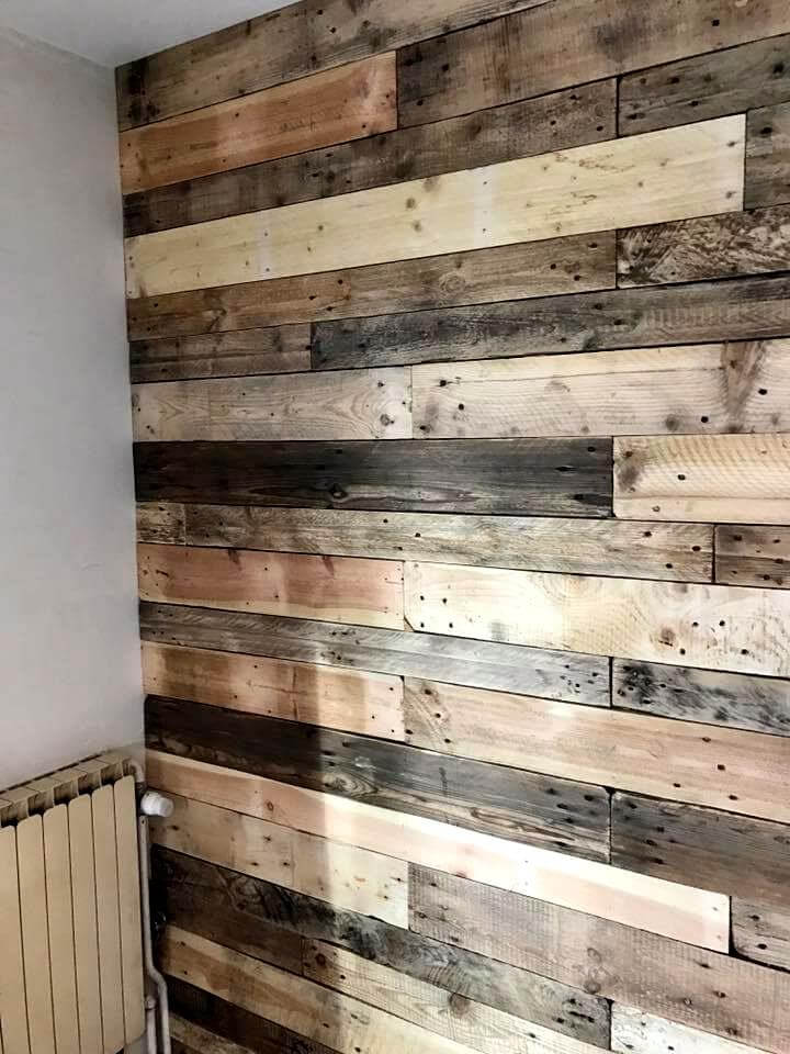 Fireplace Holder Diy Pallet Wall Paneling / Wall Cladding - Pallets Pro