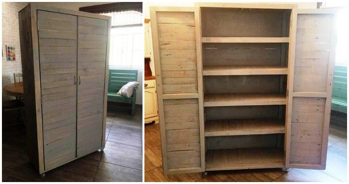 kids table with chairs desk chair value diy wood pallet cupboard - pallets pro