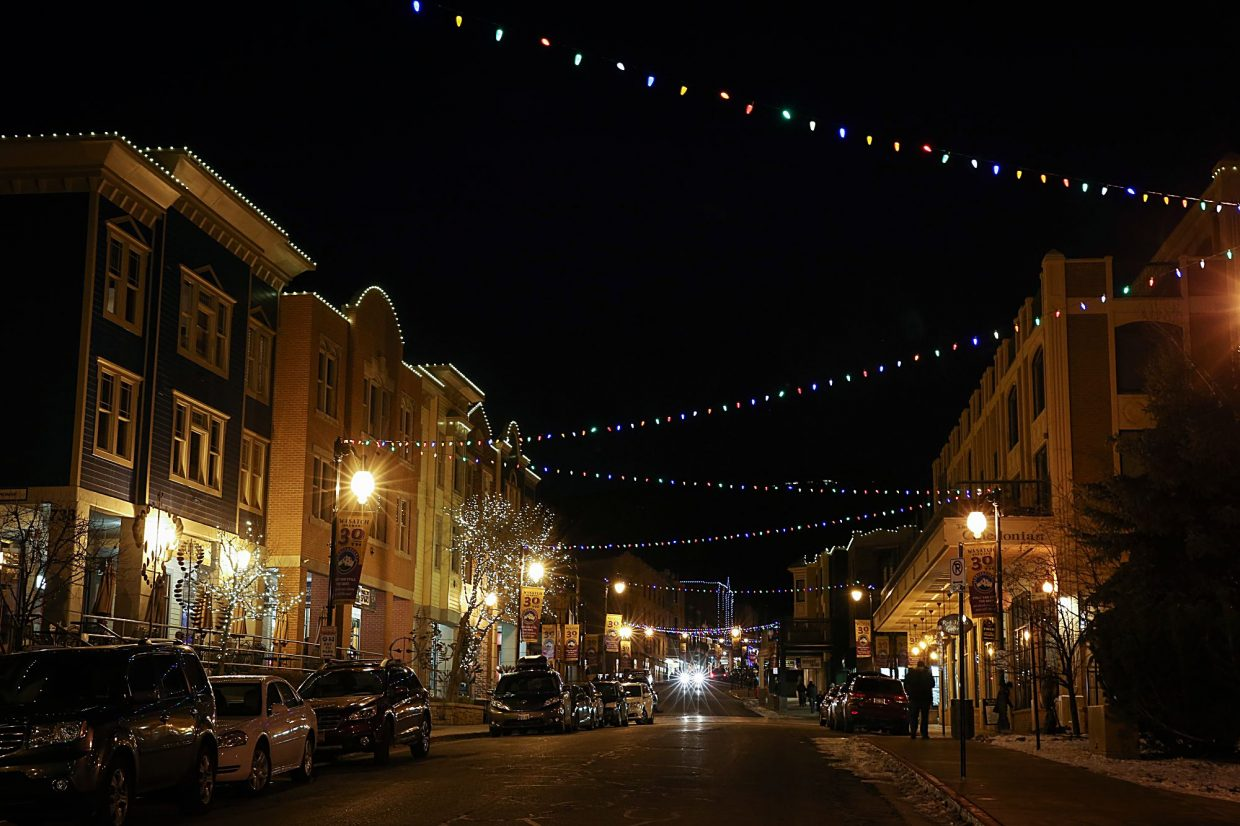 main street lights up for the holiday