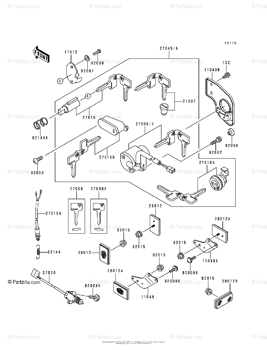 Kawasaki Motorcycle 1997 OEM Parts Diagram for Ignition