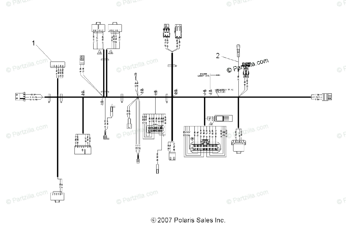 Polaris ATV 2009 OEM Parts Diagram for Electrical Harness