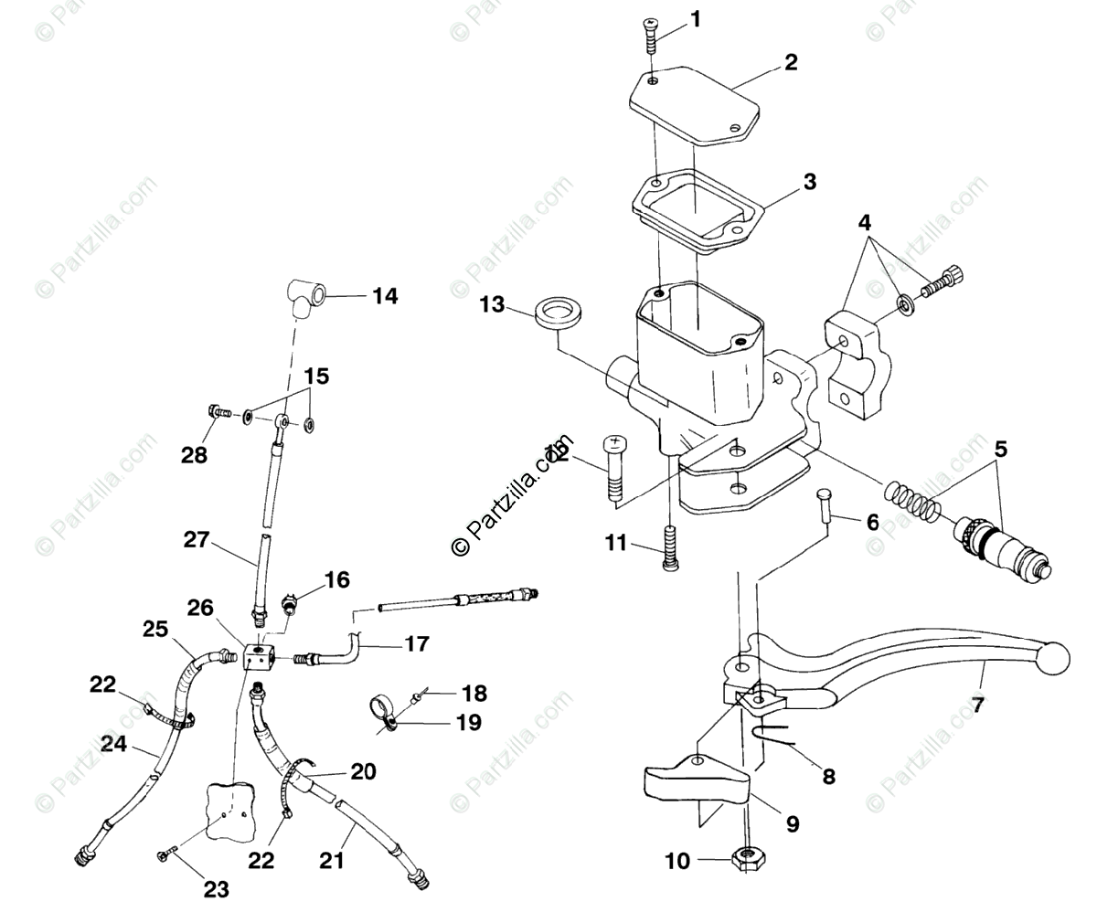 Polaris Atv Oem Parts Diagram For Controls Master