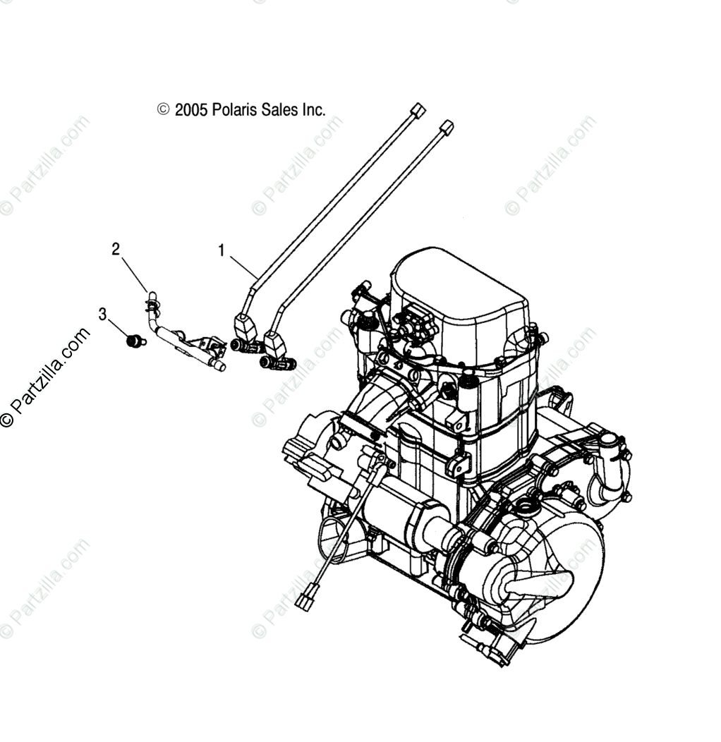 Polaris ATV 2005 OEM Parts Diagram for Fuel Injector