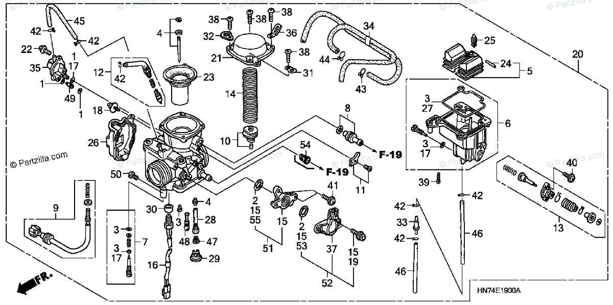 Honda ATV 2007 OEM Parts Diagram for Carburetor