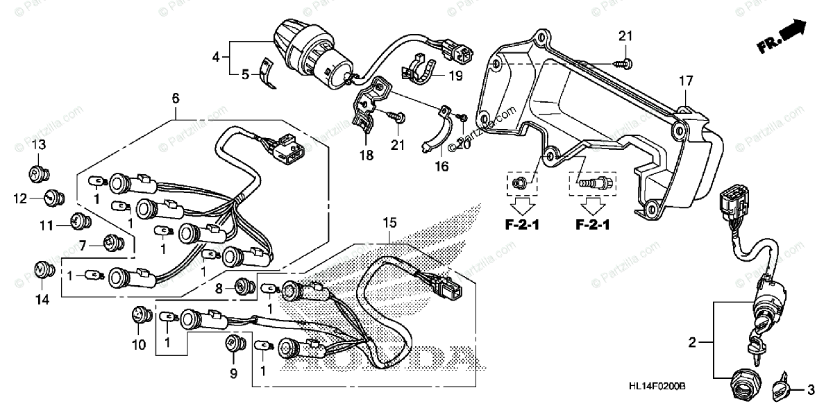 Honda Side by Side 2009 OEM Parts Diagram for Switch