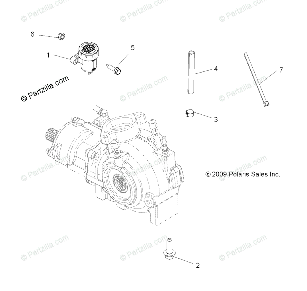 Polaris ATV 2010 OEM Parts Diagram for Drive Train