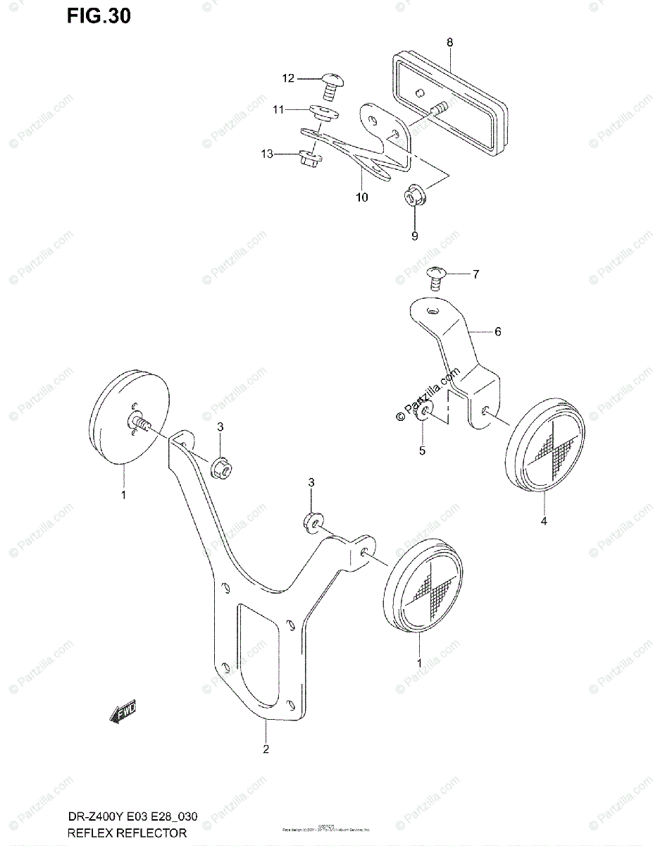 Suzuki Motorcycle 2000 OEM Parts Diagram for REFLEX