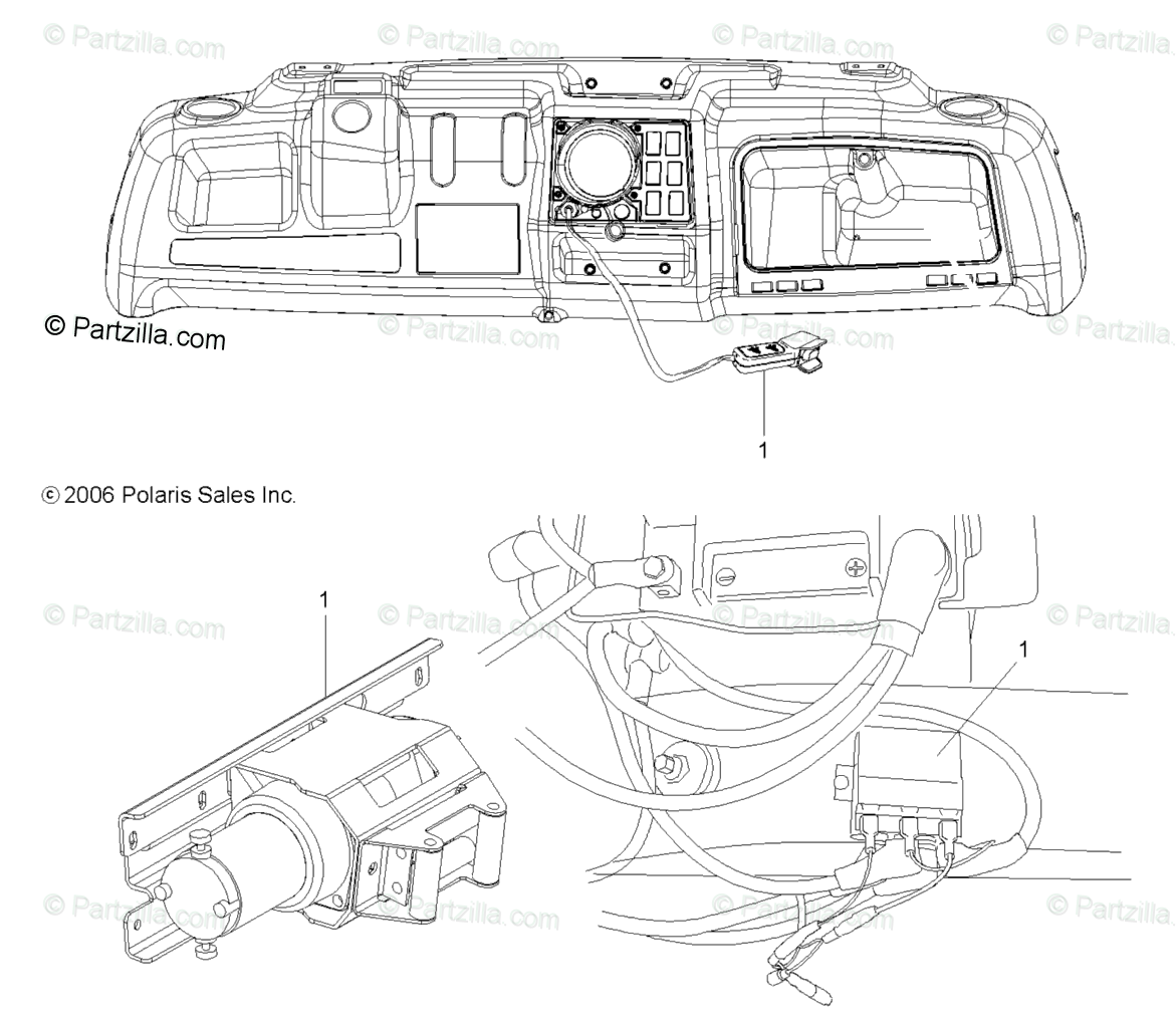 Polaris Side by Side 2008 OEM Parts Diagram for Options