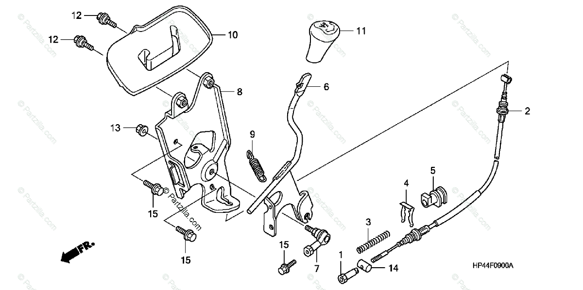 Honda ATV 2007 OEM Parts Diagram for Select Lever