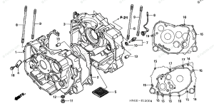 Honda ATV 2002 OEM Parts Diagram for Crankcase | Partzilla