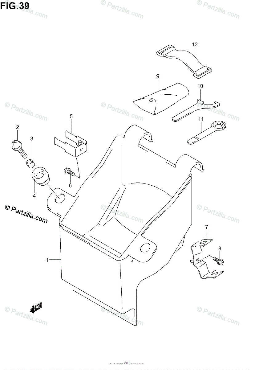 Suzuki Motorcycle 2004 OEM Parts Diagram for MANUAL BOX