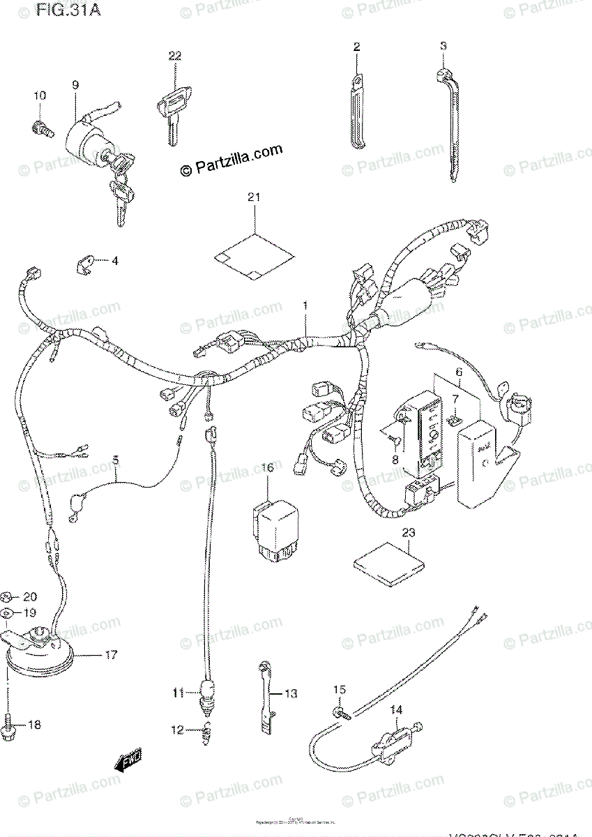 Suzuki Motorcycle 1994 OEM Parts Diagram for WIRING
