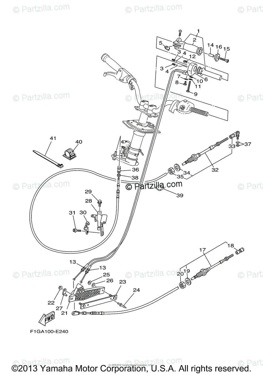 Yamaha Waverunner 2008 OEM Parts Diagram for Control