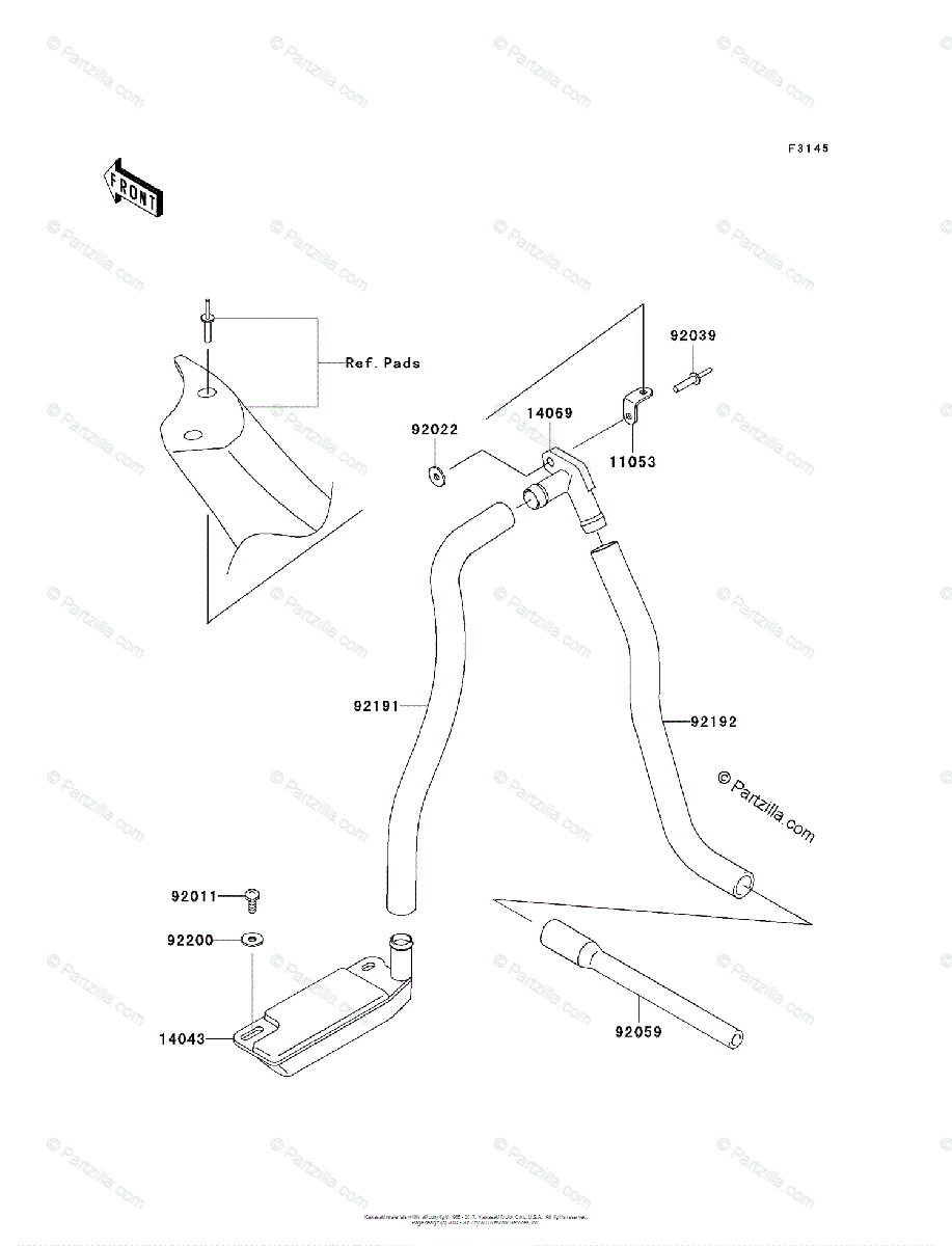 Kawasaki Jet Ski 2009 OEM Parts Diagram for Bilge System