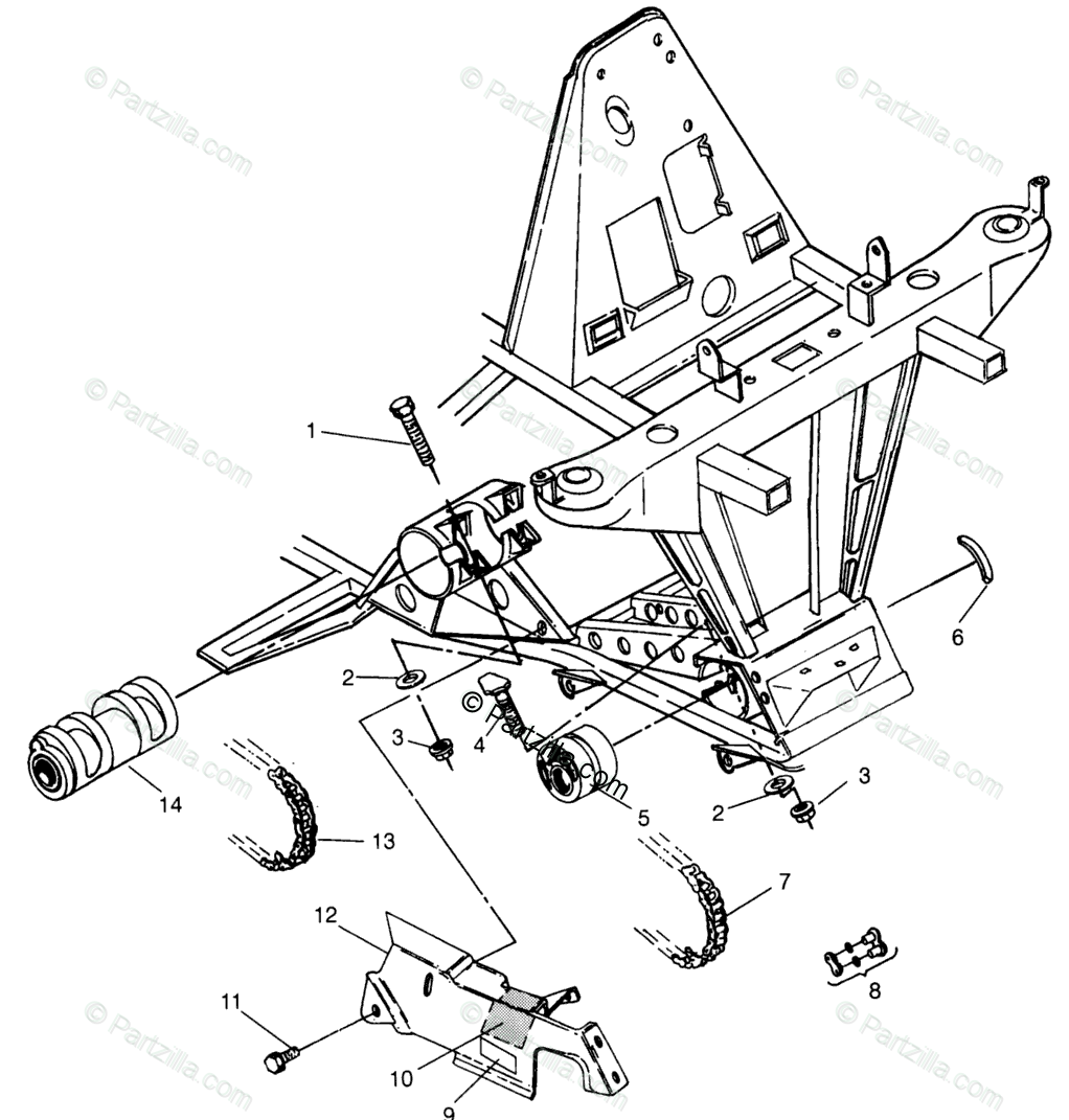 Polaris ATV 1996 OEM Parts Diagram for Front Drive Xplorer
