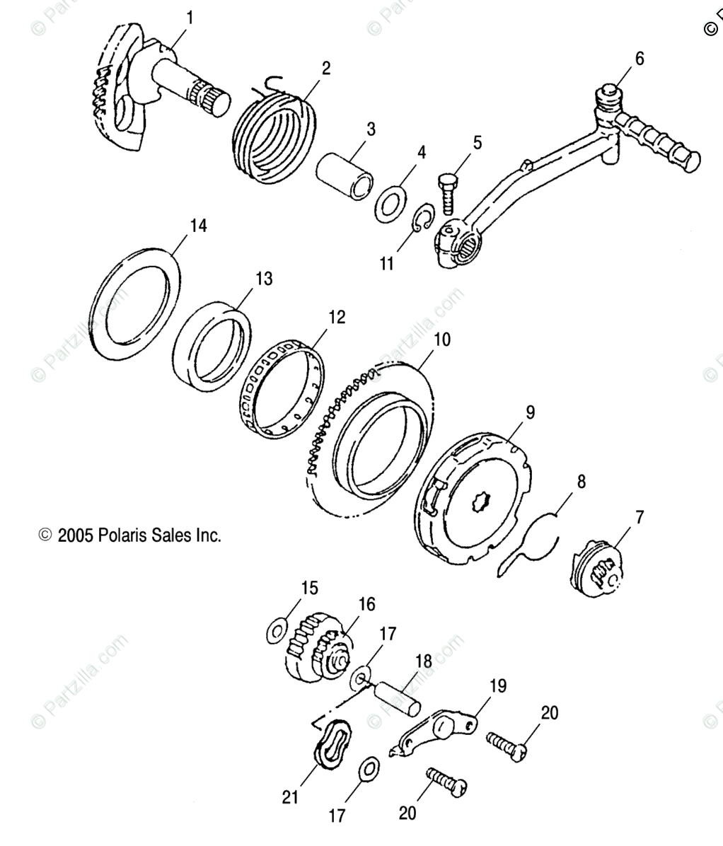 Polaris ATV 2002 OEM Parts Diagram for Starter /Cb/Cc