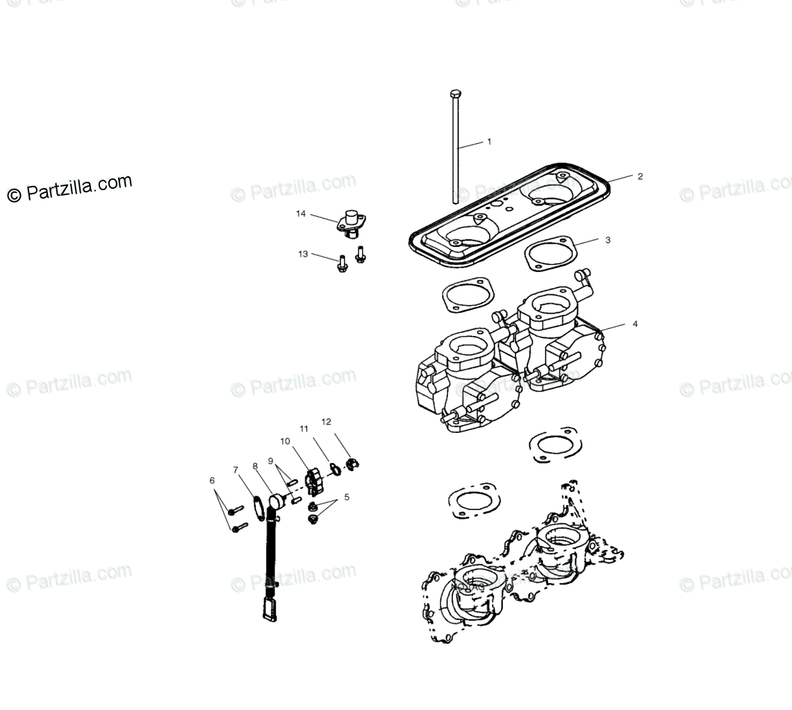 Polaris Watercraft Oem Parts Diagram For Throttle
