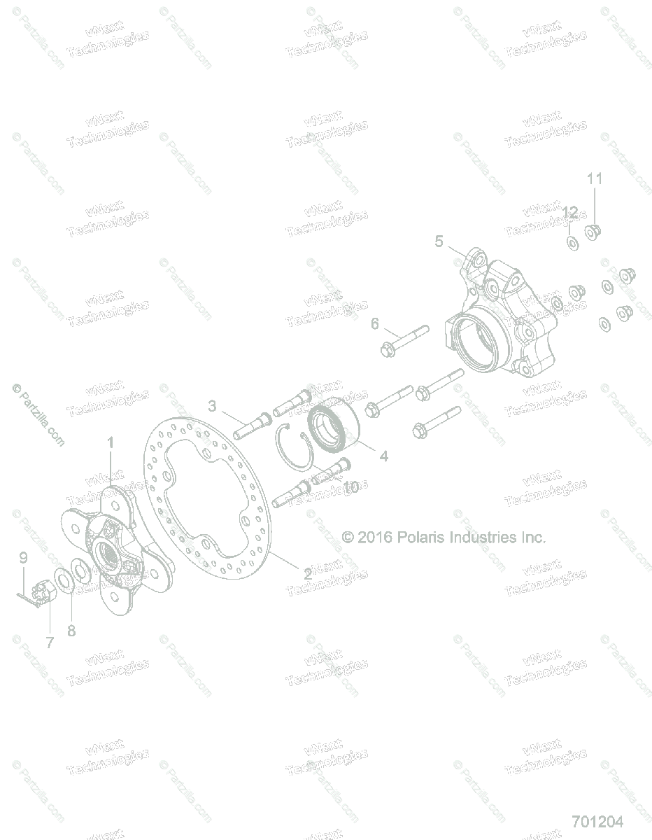 Polaris Side by Side 2017 OEM Parts Diagram for Suspention