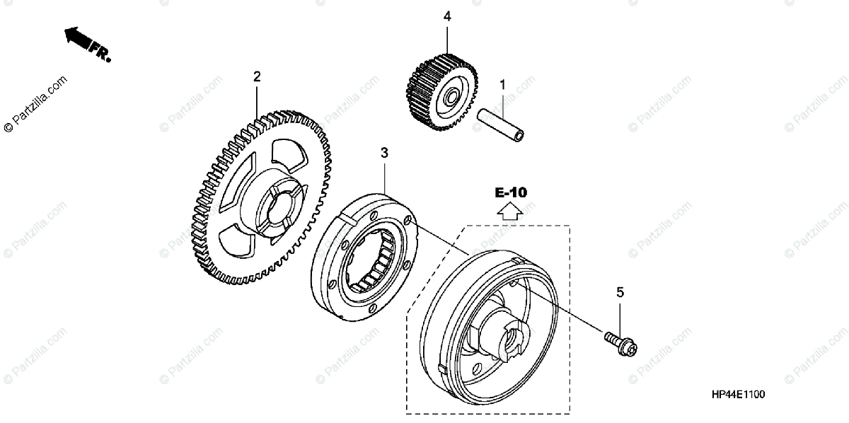 Honda ATV 2007 OEM Parts Diagram for Starter Gear