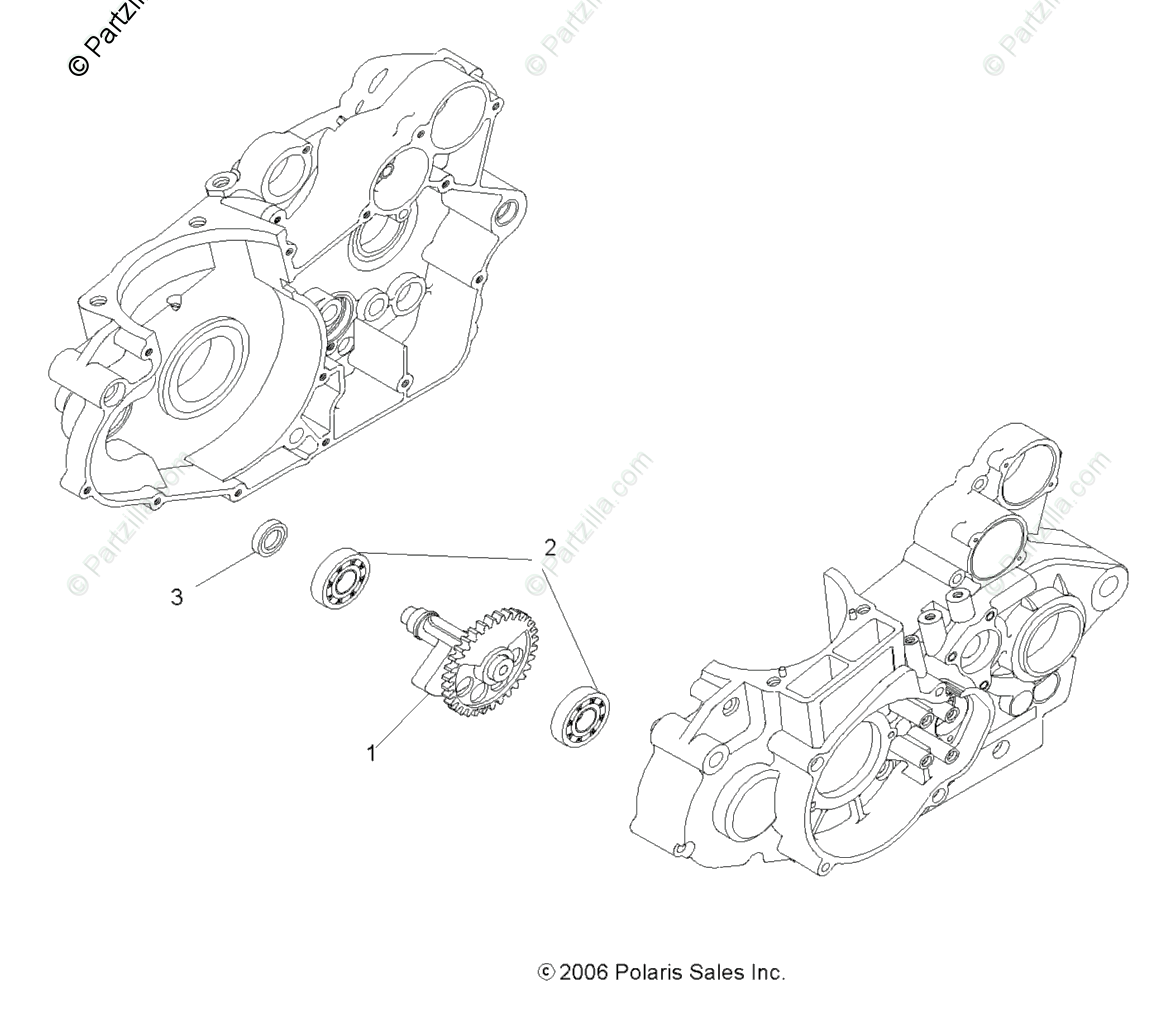 Polaris ATV 2008 OEM Parts Diagram for Drive Train
