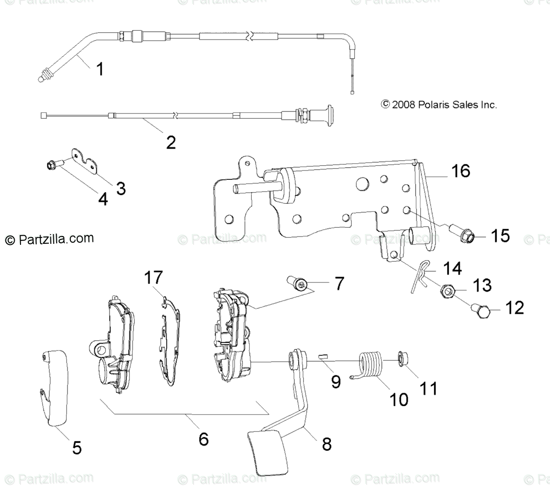 Polaris Side by Side 2011 OEM Parts Diagram for Steering