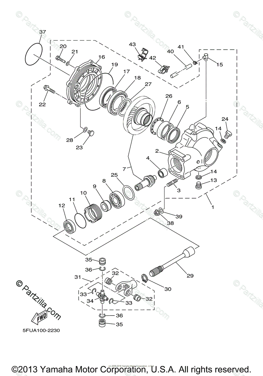 Yamaha ATV 2004 OEM Parts Diagram for Drive Shaft