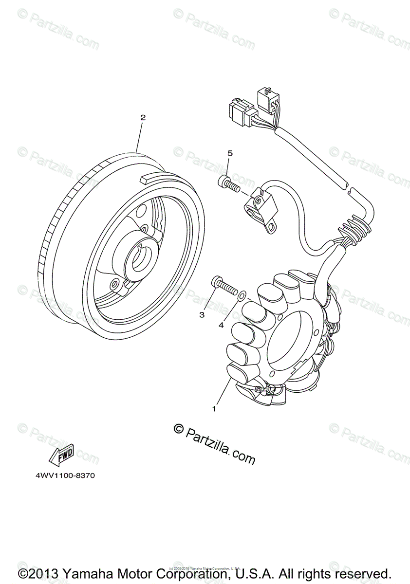 Yamaha ATV 2001 OEM Parts Diagram for Generator