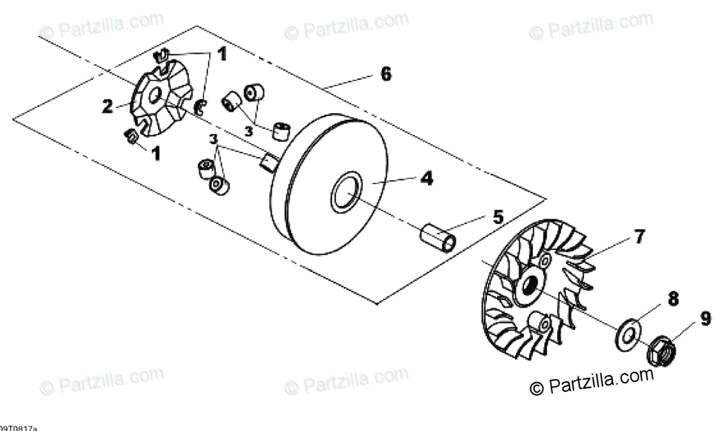 Can-Am ATV 2008 OEM Parts Diagram for Drive Pulley