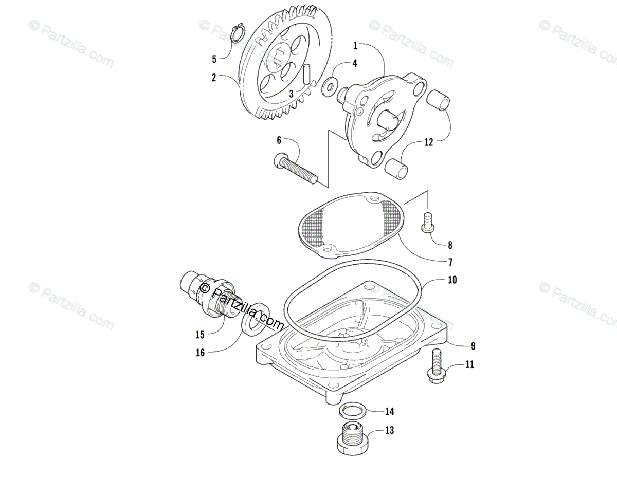 Arctic Cat ATV 2013 OEM Parts Diagram for Oil Pump And