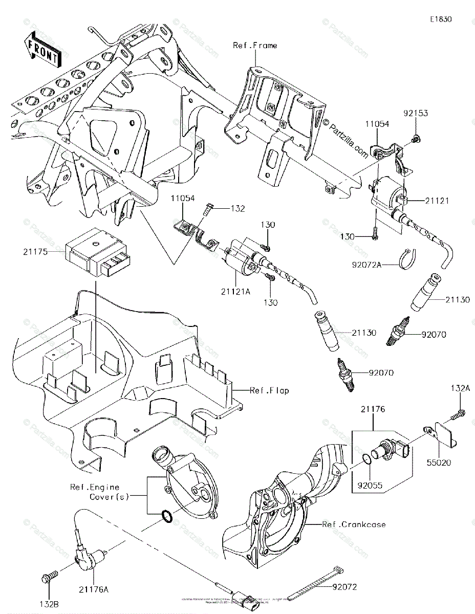 Kawasaki ATV 2016 OEM Parts Diagram for Ignition System