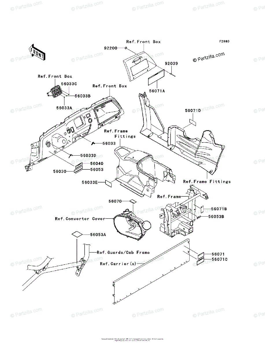Kawasaki Side by Side 2008 OEM Parts Diagram for Labels