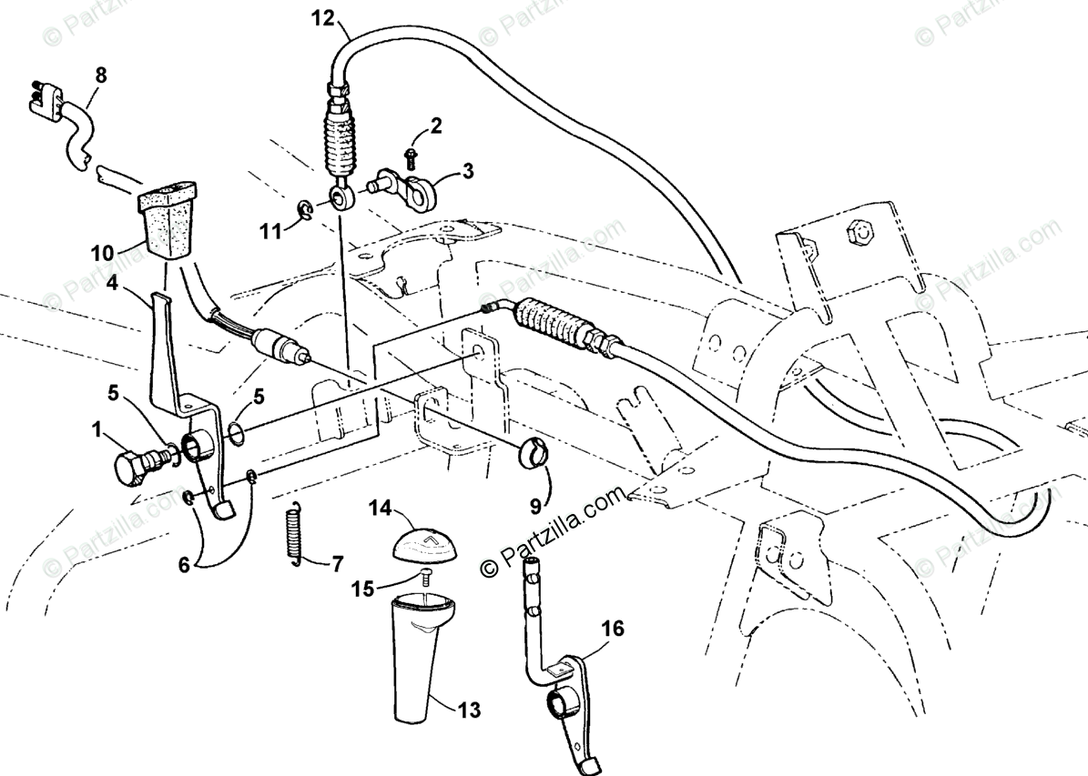 Arctic Cat ATV 2001 OEM Parts Diagram for Reverse Shift