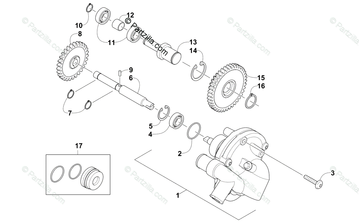 Arctic Cat ATV 2013 OEM Parts Diagram for Water Pump