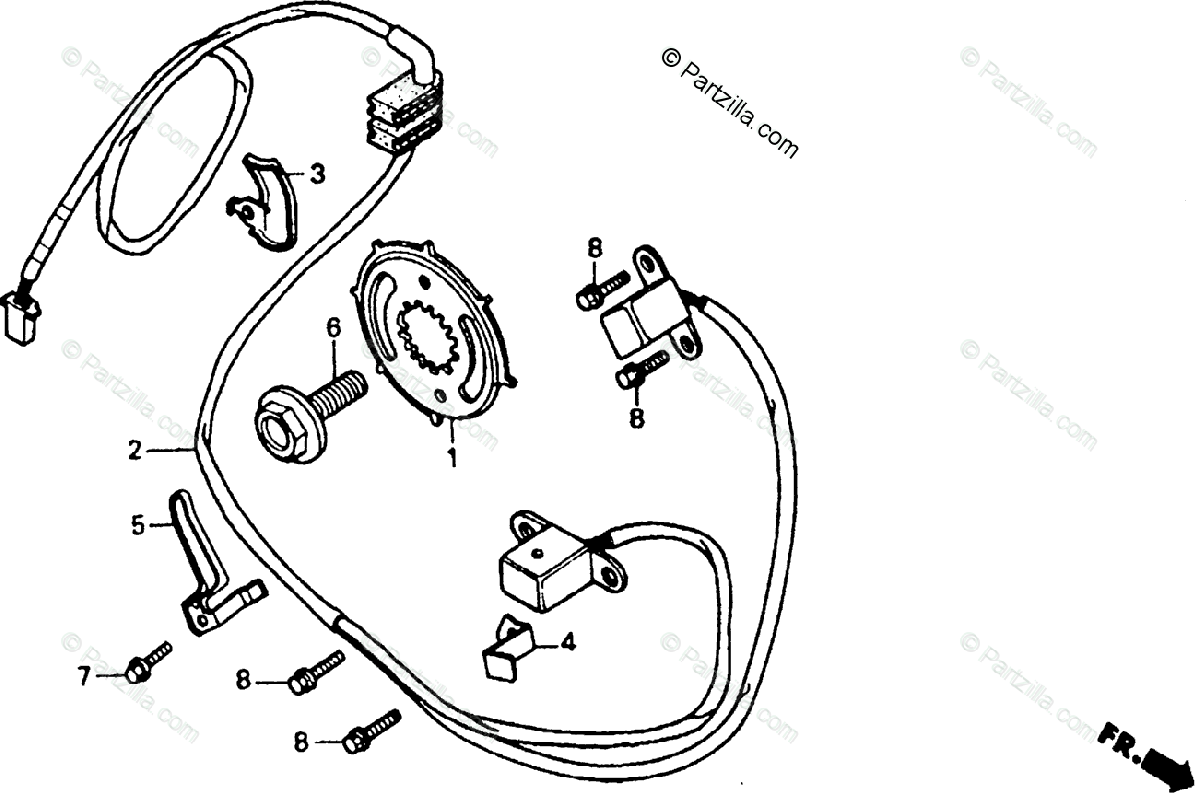 Honda Motorcycle Oem Parts Diagram For Pulse
