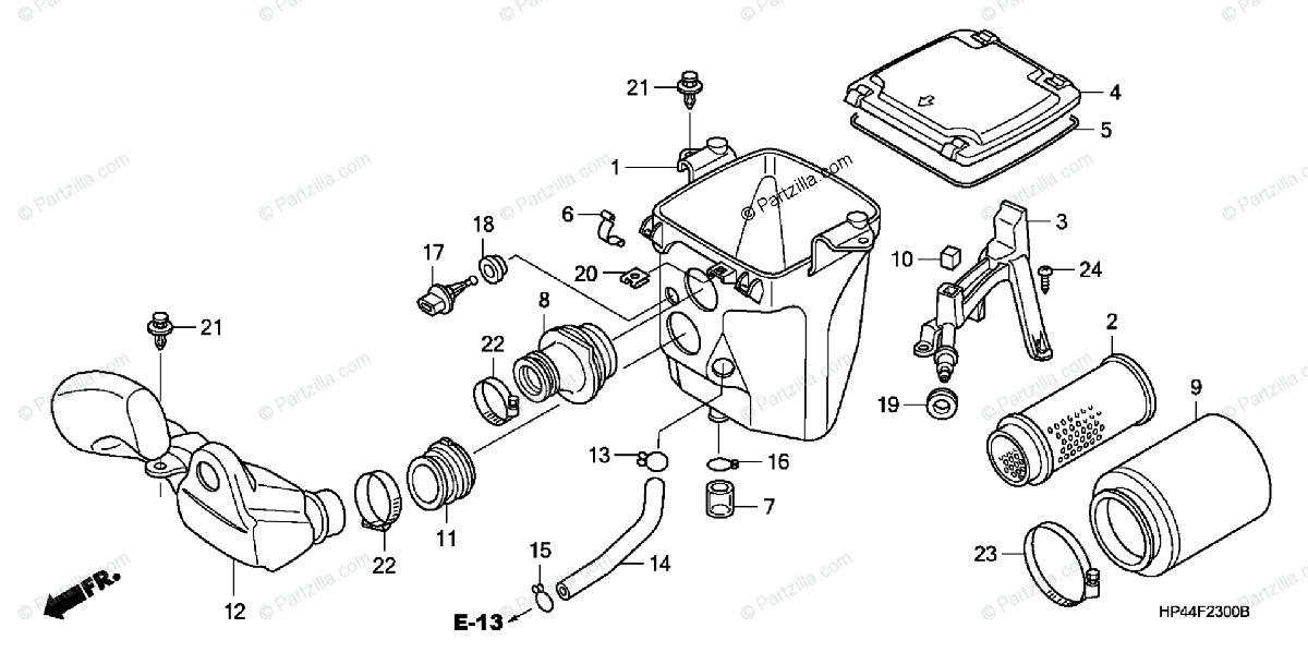 Honda ATV 2007 OEM Parts Diagram for Air Cleaner