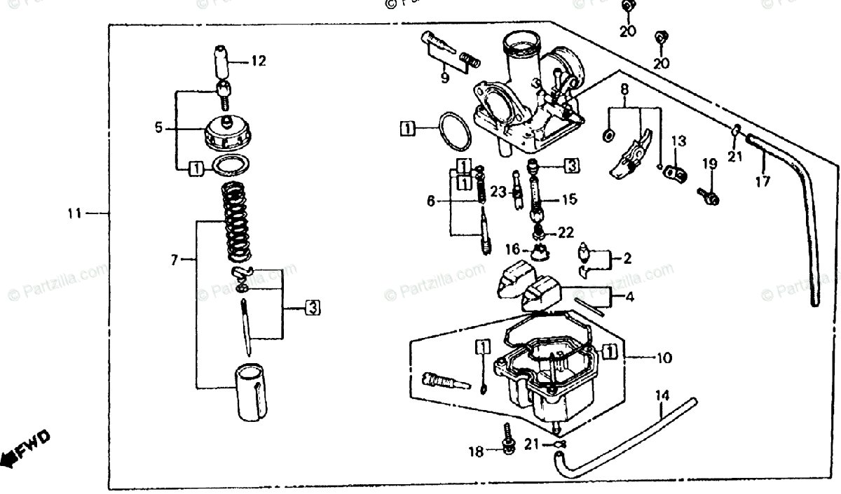 Wiring Diagram Database: Honda Atc 200 Carb Diagram
