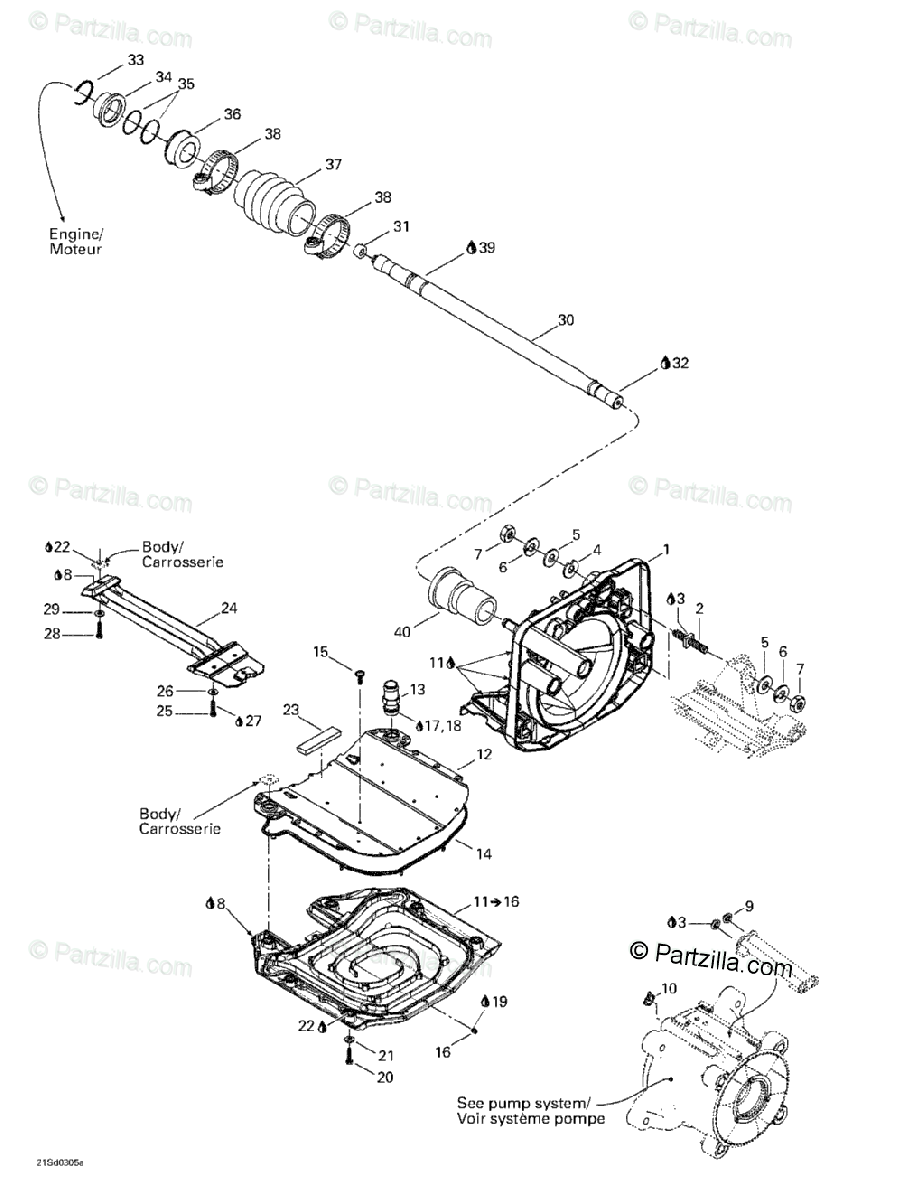 Sea-Doo 2003 GTX 4-TEC OEM Parts Diagram for Propulsion