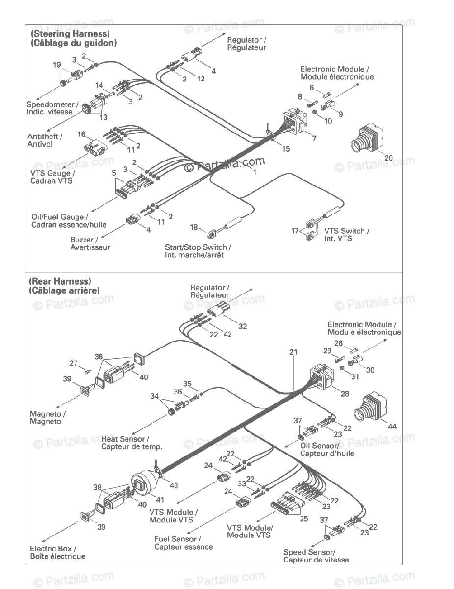 Sea-Doo 1997 XP, 5662 OEM Parts Diagram for Electrical