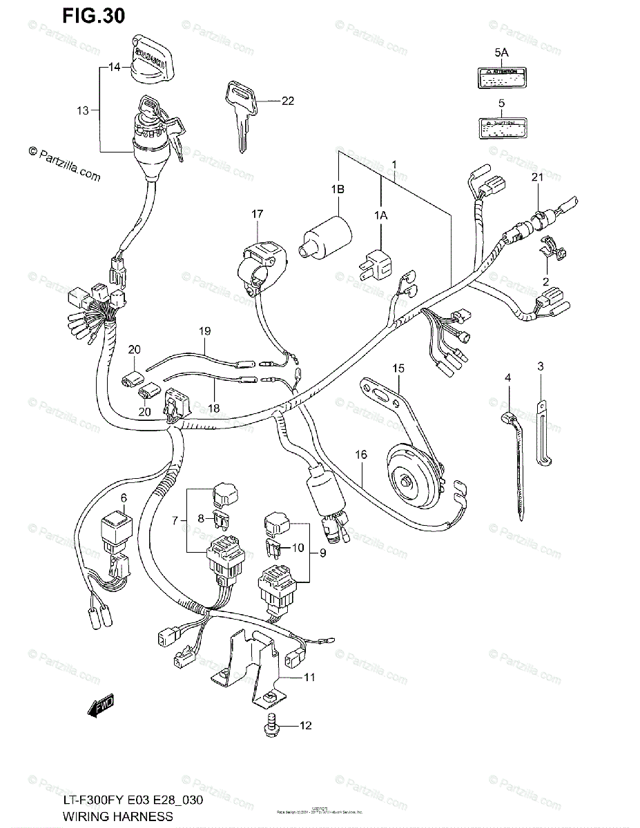 Suzuki ATV 2000 OEM Parts Diagram for WIRING HARNESS