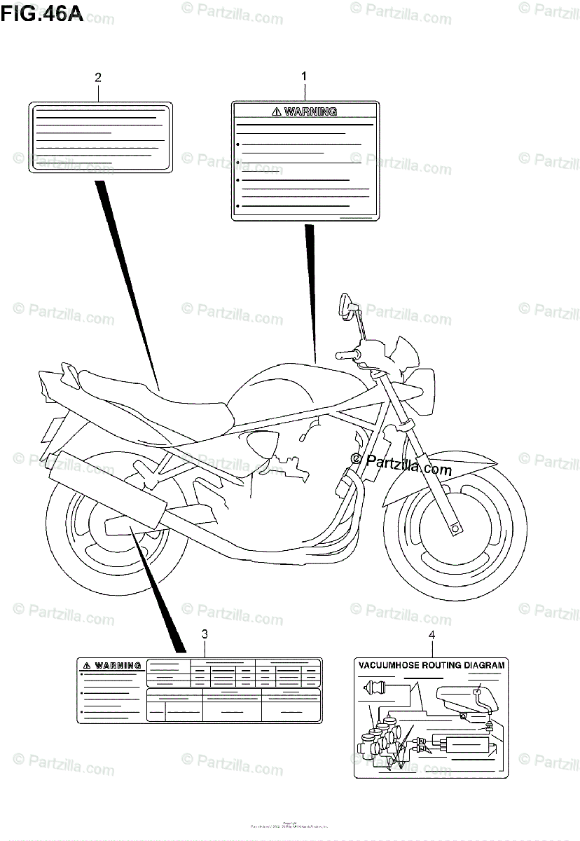 Suzuki Motorcycle 2001 OEM Parts Diagram for LABEL