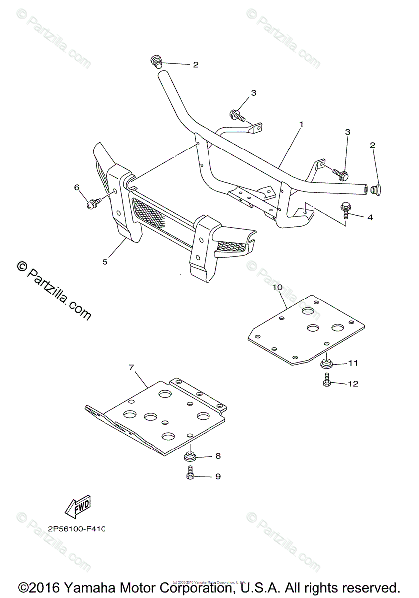 Yamaha Side by Side 2009 OEM Parts Diagram for Guard