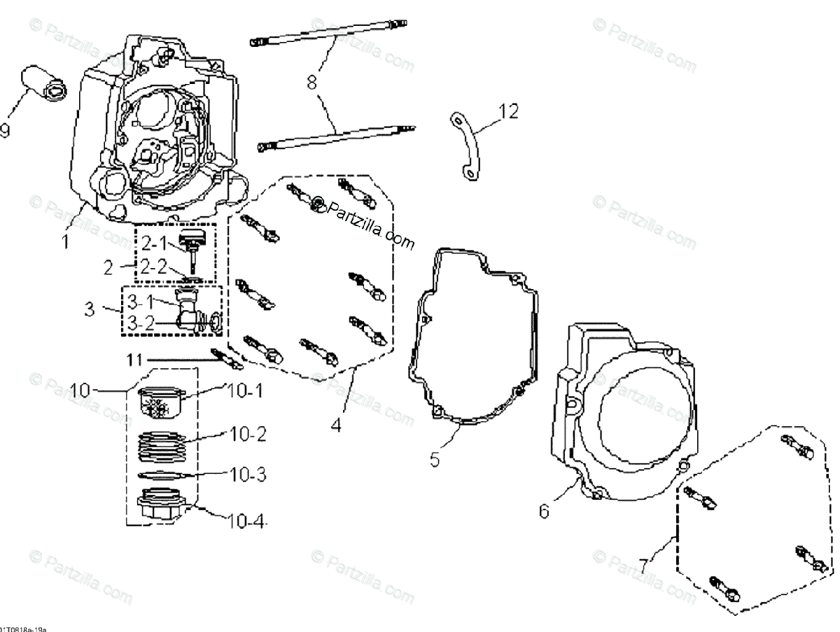 Can-Am ATV 2008 OEM Parts Diagram for Crankcase, Right