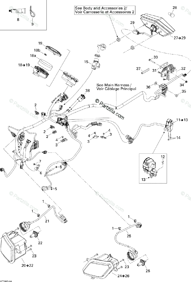 Can-Am ATV 2008 OEM Parts Diagram for Electrical