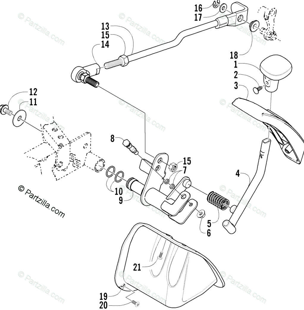 Arctic Cat ATV 2005 OEM Parts Diagram for Reverse Shift